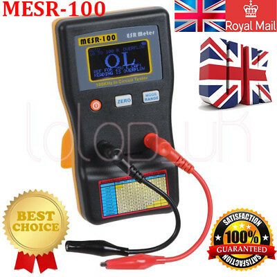 UK Auto Range In Circuit ESR Capacitor Meter Tester Up to 0.001 to 100R MESR100