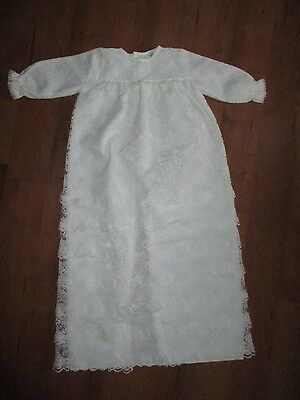 Vintage Mothercare lace Christening gown Robe dress white