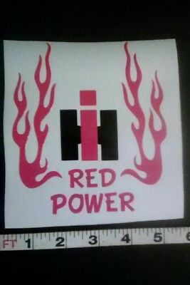 international harvester red power decal