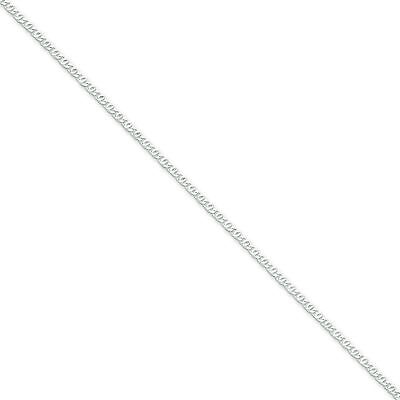 "Mens Ladies .925 Sterling Silver 2mm Fancy Link 16"" Chain Necklace For Pendant"