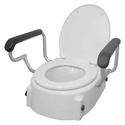 Toilet Seat Raiser Adjustable - Assist with Transfers From Toilet, Height Adjust
