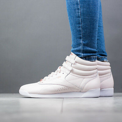 60237a72ee1 WOMEN S REEBOK FREESTYLE Hi Muted Casual Shoes Pale Pink CN1495 PNK ...