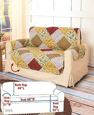 Quilted Sofa Furniture Cover Protector Protect From Kid's Pets Spills Home Decor