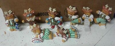 Enesco Lucy & Me Reindeers Complete Set of 8 Christmas Figurines original boxes