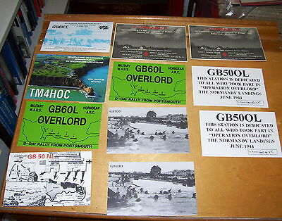 Operation Overlord D-Day Landings Amateur Radio Cards (11) 1992-1995