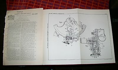 Improvements In Sextants Patent. Monn, Ilford, Essex. 1931 Aircraft