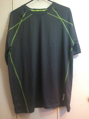 💪  Mens Reebok Play Dry Spandex Polyester Large Athletic Shirt  💪
