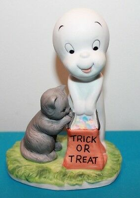Vintage 1986 Casper The Friendly Ghost Figurine Halloween Trick Treat Cat Harvey