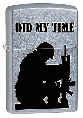 Zippo Lighter: Army Soldier, Did My Time - Street Chrome 76890