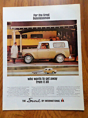 1965 Scout by International Harvester Ad at the Train Station Get Away Fishing