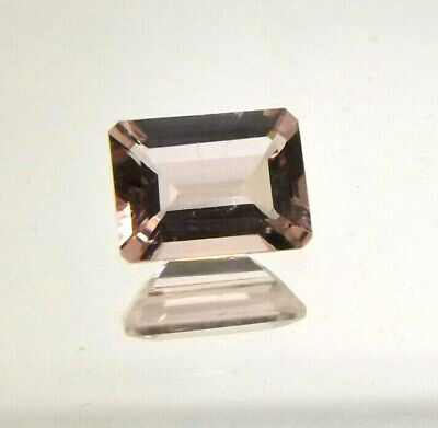 1x Morganit - Octagon facettiert 1,26ct. 6,0x8,0x3,6mm (1436P)