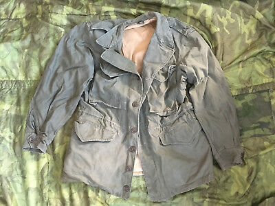 WWII M-1943 M43 Field Jacket OD Green 36R fits up to 40S
