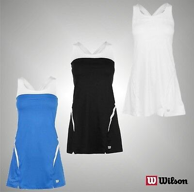 Ladies Branded Wilson Stylish Stretchy Tennis Badminton Team Dress Size 8-16