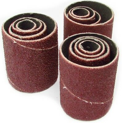 2 inch Long Spindle Sanding Sleeves for Rubber Drums - Set of 12  Assorted Grits