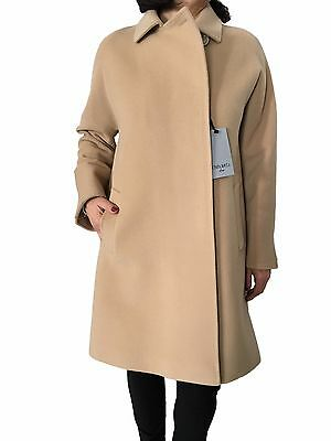 Cinzia Rocca Women's Coat Camel Light 70%Wool 10%Cashmere Made in Italy