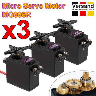 3stk. Digital MG996R Servo Metal Gear Motor for Futaba JR Car RC Helicopter Boat