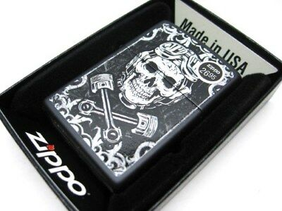 Zippo Full Size Black Matte Skull & Wrenches Classic Windproof Lighter 29088