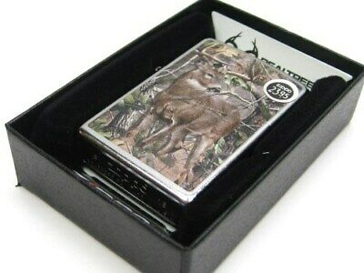 ZIPPO Full Size Street Chrome REALTREE w/ Deer Windproof Lighter New! 29310