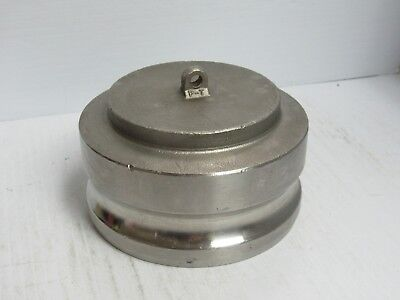 """Pt S/S Stainless Steel 4"""" Male Camlock Camlever Dust Cap 40-W 40W - Used"""