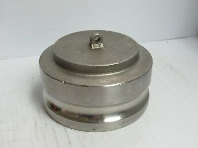"Pt S/s Stainless Steel 4"" Male Camlock Camlever Dust Cap 40-W 40W - Used"