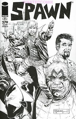 SPAWN #279 B&W WALKING DEAD TRIBUTE #115 McFARLANE SKETCH VARIANT COMIC BOOK NEW