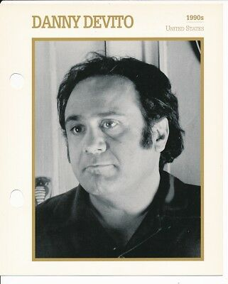 "DANNY DEVITO MOVIE STAR ENCYCLOPEDIA 5 3/4"" X 7"" CARD-1990's"