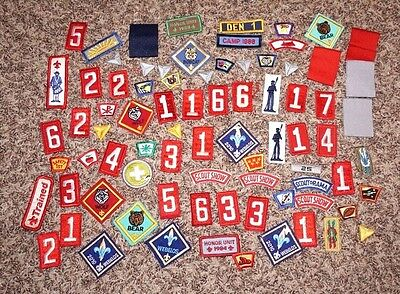 LOT of (80) Vintage BSA Boy Scouts of America Scout Patches & Etc.