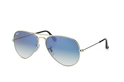 RAY-BAN SMALL Aviator LIGHT BLUE GRADIENT AVIATOR RB3025 003/3F SIZE 55MM 55-14