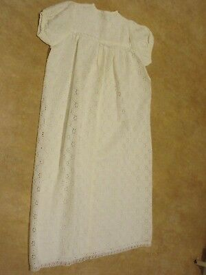 Vintage hand made Christening dress gown