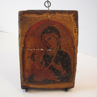 Madonna with Christ Child Wood Religious Icon