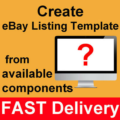 ECHO Simple Minimal Basic eBay Auction Listing Template Mobile Responsive
