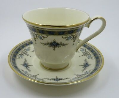 Minton Grasmere Blue Bone China Gold Trim Cup / Saucer (mult avail)