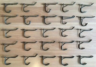 Old Vtg Antique Rustic Twisted Metal Wire School House Coat Rack Hook Lot Of 25