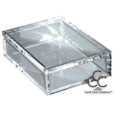 Playing Card Case Carat X1 Empty Box Clear Strong Acrylic Magnet Close