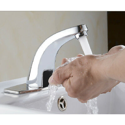 Hands Free Automatic Sensor Faucet Bathroom Basin Faucet Cold Water Tap Sink Tap