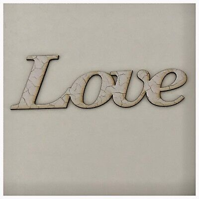 Love Word White Shabby Chic French Wooden Wall Art Unique Vintage