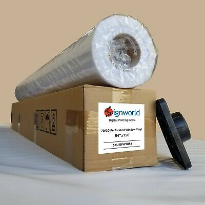 "Perforated One Way Vision Print Media Vinyl Window Sticker Film 54"" X 164' 70/30"