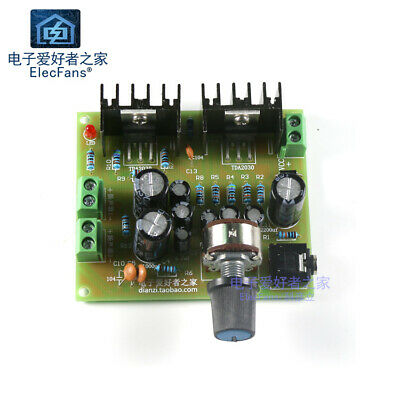 2.0 double track TDA2030A audio power amplifier board  12V,need your own welding