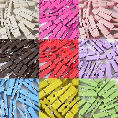 10 PCS Mini Wood Clothespin Clip Note Pegs for Photo Paper Clothes Craft Artwork