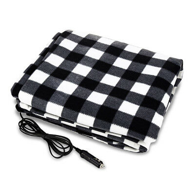 Car Electric Heated Blanket Cushion Truck Heating Pad Seat Cover Black DC 12V