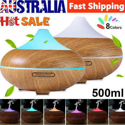 500ml 8 LEDs Oil Fragrance Aromatherapy Ultrasonic Aroma Air Humidifier Diffuser