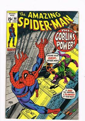 Amazing Spider-Man # 98  The Goblin's Power ! drug issue grade 7.5 scarce book !