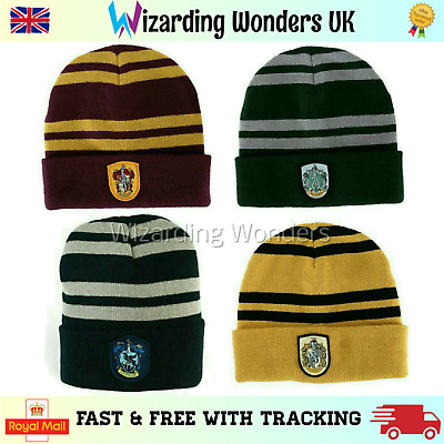 Harry Potter Beanie Hat Gryffindor Slytherin Ravenclaw Hufflepuff Book Day