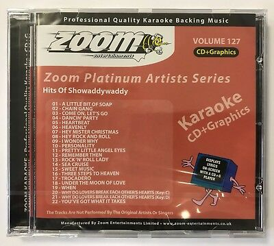 Zoom Karaoke Platinum Artists Vol. 127 CD+G - Hits Of Showaddywaddy - 22 Tracks