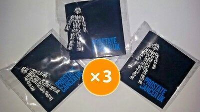 3 X BRAND NEW Prostate Cancer UK (you get THREE!) - Men United  Pin Badge Sealed