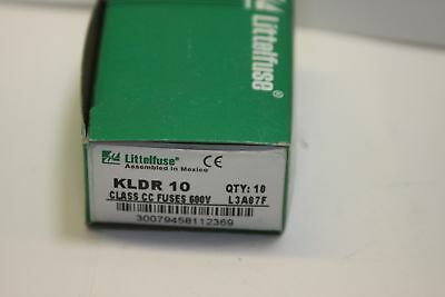 LITTLEFUSE KLDR 10 CLASS CC FUSE 600V box of 10