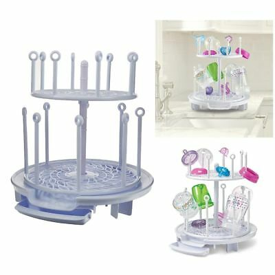 Baby Bottle Drying Rack Drip Tray Spin Adjustable Breast Pump Parts Drying .