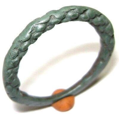 Ancient Pseudo-twisted Viking bronze ring.