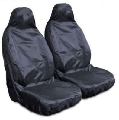 For Audi A4 - Heavy Duty Black Waterproof Car Seat Covers - 2 x Fronts