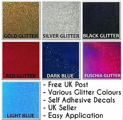 "GLITTER Effect Tile Sticker 4"" Transfer Kitchen Bathroom Decal Self Adhesive"
